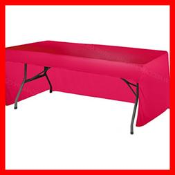 6 FT Rectangle Tablecloth Table Cover For Rectangular Tables