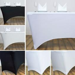 6 pcs 4 ft RECTANGLE SPANDEX STRETCH TABLE COVERS Fitted Tab