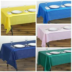 "6 pcs 54 x 108"" Disposable Plastic Rectangular Table Covers"
