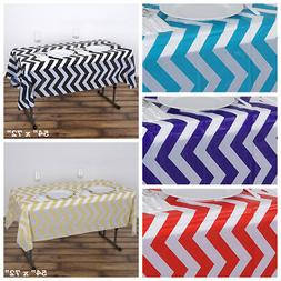 "6 pcs 54 x 72"" Chevron Disposable Plastic Rectangular Table"