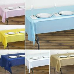 6 pcs rectangle 54x108 disposable plastic table