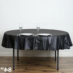 """12 pcs ROUND 84"""" Disposable Plastic Tablecloth Table Cover A"""