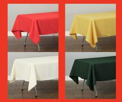 LinenTablecloth 60 x 102 in.Rectangular Polyester Tablecloth