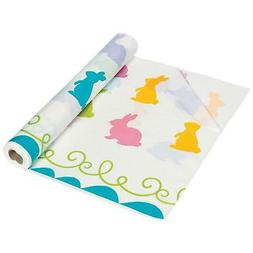 "60"" x 40"" EASTER BUNNY PLASTIC TABLECLOTH FUN WIPE CLEAN TAB"