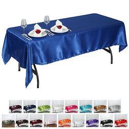 "60x102"" Rectangle Satin Tablecloth Wholesale SATIN Banquet T"