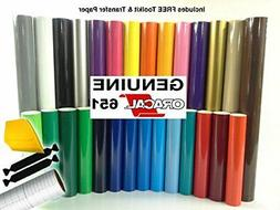 ORACAL 651 Multi-Color Vinyl Starter Kit Bundle for Cricut,