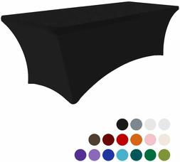 Eurmax 6Ft Rectangular Fitted Spandex Tablecloths Wedding Pa