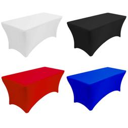 6FT Stretch Spandex Table Covers, Fitted Rectangular Tablecl