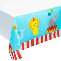 "6pcs 54 x 108"" Circus Disposable Plastic Table Covers Tablec"