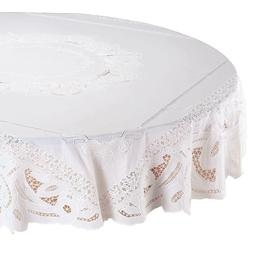 """70"""" Round Table Cover Floral Vinyl Lace Dining Kitchen Table"""