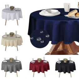 70'' Round Tablecloth Water Resistance Table Cover for Dinin