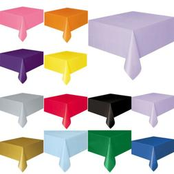 72'' Square Disposable Plastic Table Cover Tablecloth For We