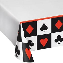 Creative Converting 728630 Card Night Plastic Tablecover 54