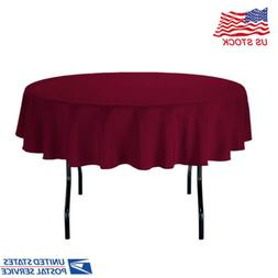 "78"" Round Tablecloths for Circular Table Cover in Charcoal W"