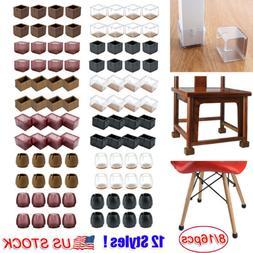 8/16pcs Silicone Chair Leg Caps Feet Pads Furniture Table Co
