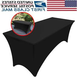 8 feet Rectangular Linen Black Table cloth Table Cover for W