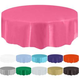 """84"""" Round Tablecloth Table Cover For Wedding Banquet Party R"""