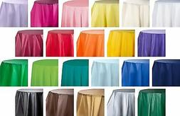 """84"""" True Round Heavy Duty Plastic Table Covers Disposable Pa"""