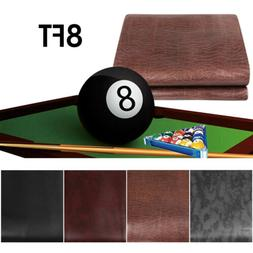 8ft Heavy Duty Leatherette Fitted Billiard Pool Table Cover