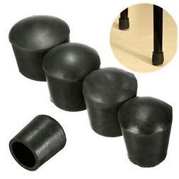 8pcs/set Round Chair Leg Caps Rubber Feet Protector Pads Fur