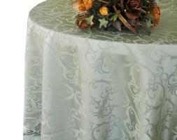 "Wedding Linens Inc. 90"" Round Damask Jacquard Polyester Tabl"