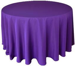 """Wedding Linens Inc. 90"""" Round Polyester Tablecloth Party Tab"""