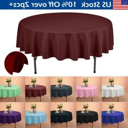 90 round polyester tablecloths table cover