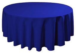 "90"" Round Tablecloth Table Cover Seamless Wedding Banquet -"