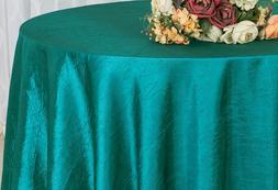 "Wedding Linens Inc. 90"" Taffeta Crinkle Crushed Round Tablec"