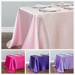 LinenTablecloth 90 x 156 in. Rectangular Satin Tablecloth 32
