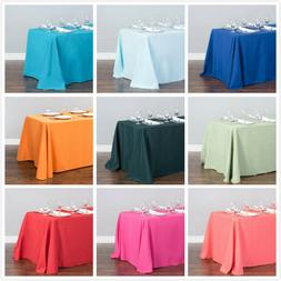 LinenTablecloth 90 x 156 in. Rect Poly Tablecloths,33 Color!