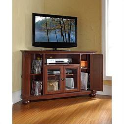 Crosley Furniture Alexandria 48-Inch Corner TV Stand, Vintag