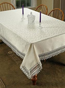 "HomeCrate Flower Bow Vintage Lace Design tablecloths, 70"" x"