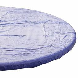 Kwik-Covers Round Royal Blue Plastic Disposable Table Cover