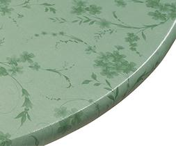 Miles Kimball Floral Swirl Vinyl Elasticized Table Cover, 40