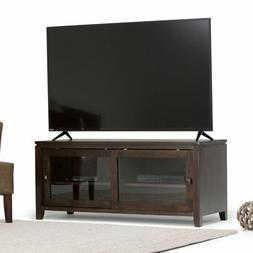 Simpli Home INT-AXCCOS-TV-CF Cosmopolitan Solid Wood TV Medi