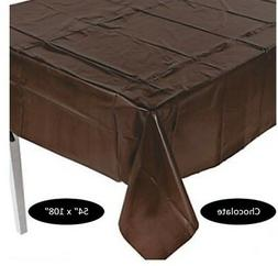 Table Cover Chocolate Brown Plastic Rectangle Decorations Ta