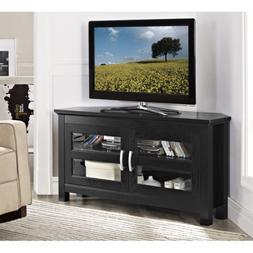"""Walker Edison 44"""" Cordoba Corner TV Stand Console, Black"""