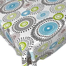 Whimsy Circle Contemporary Print Indoor/Outdoor Vinyl Flanne