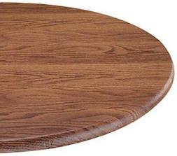 Woodgrain Elastic Table Cover - Size: Small Round, Color: Oa