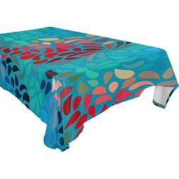 My Little Nest Abstract Floral Pattern Rectangle Tablecloth