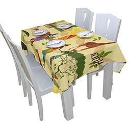 BAIHUISHOP African Ait Floral Print Tablecloth Rectangular P