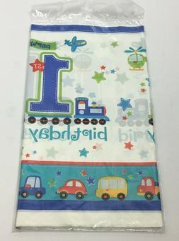 AMSCAN ALL ABOARD BIRTHDAY BDAY DAY BOY TABLECOVER TABLECLOT
