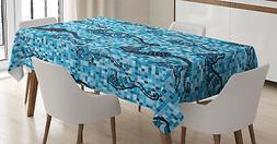 Animals Tablecloth Ambesonne 3 Sizes Rectangular Table Cover