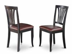 East West Furniture AVC-BLK-LC Chair Set for Dining Room, Bl
