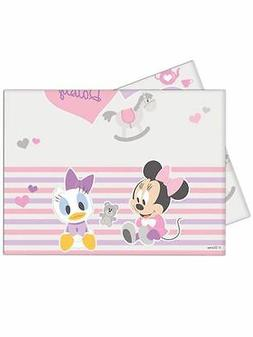 Baby Minnie Plastic table cover  for a party