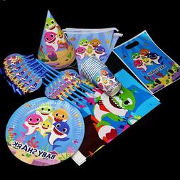 BABYSHARK BABY SHARK BALLOON CUP PLATE TABLE COVER BANNER CA