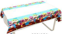 BABY SHARK DooDooDoo Happy Birthday Party plastic TABLECLOTH