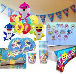 BABY SHARK PARTY DECORATIONS ~ Balloons, Plates, Cups, Napki