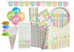 Baby Shower Neutral Polka Dots Party Supplies Tableware Deco